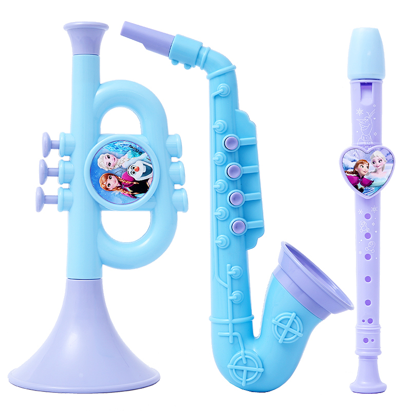 Disney Frozen Big Collection Of Musical Instruments Genuine Violin Guitar Sand Hammer Education Children Musical Instruments Toy