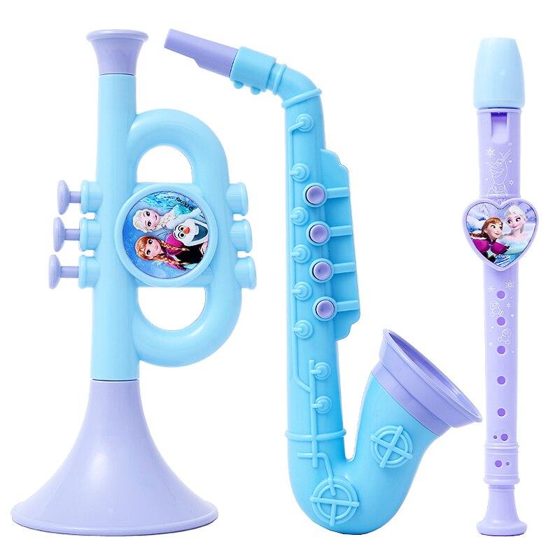 Disney Frozen Big Collection Of Musical Instruments Genuine Violin Guitar Sand Hammer Education Children Musical Instruments Toy