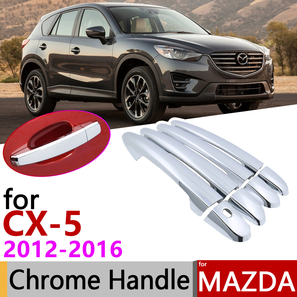 for <font><b>Mazda</b></font> CX-<font><b>5</b></font> CX5 CX <font><b>5</b></font> KE 2012~2016 Chrome Exterior Door Handle Cover Car Accessories <font><b>Stickers</b></font> Trim Set of 4Door 2013 2014 2015 image