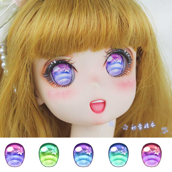 Pudim Estartek Personalizado 1/6 1/4 1/3 Acrílico Anime Eyes para BJD SD DD Boneca Action Figure DIY 16 20 22 24mm