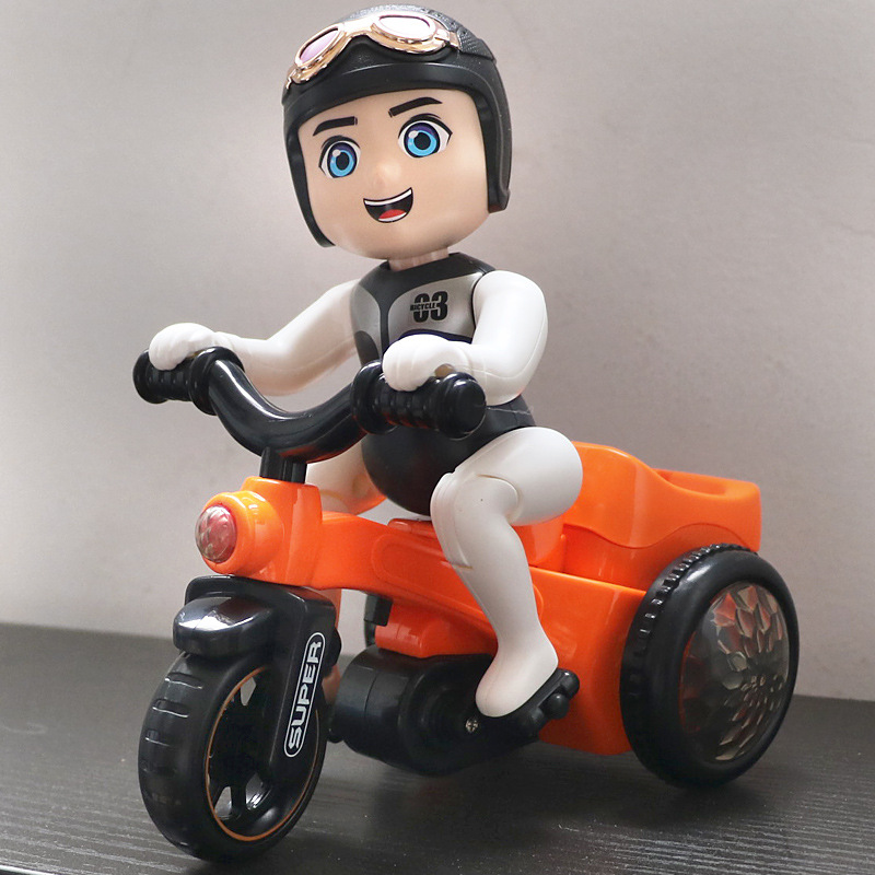 Children Men And Women Baby Educational Toy Music Stunt Ride Rotating Electric Cartoon Tricycle Mainland China Video Game