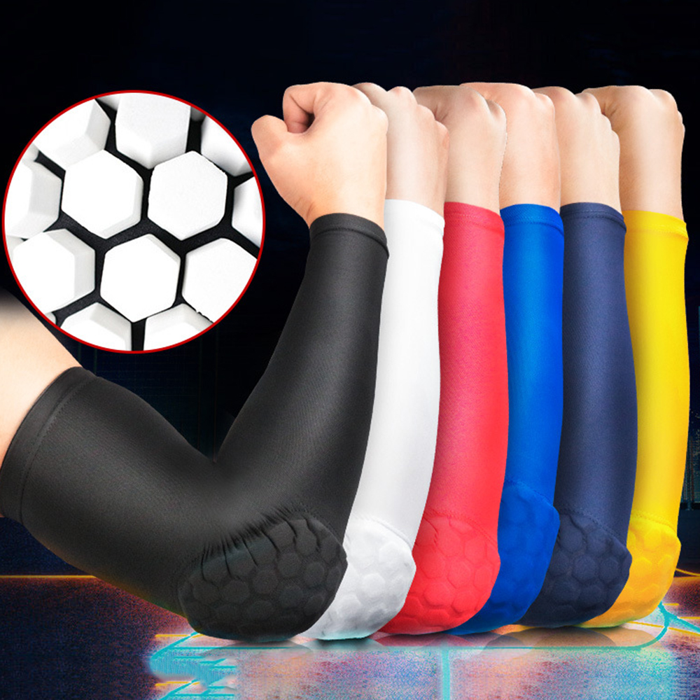 Sports Elbow Pads Sleeve Volleyball Hockey Basketball Elbow Anti-Collision Pressure Arm Elbow Guard UV Protection ice Sleeve