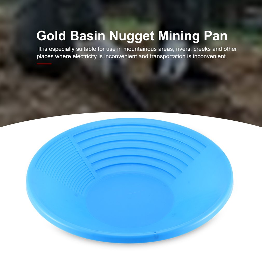 Plastic Gold Basin Nugget Mining Pan Dual Riffle Dredging Prospecting River Tool For MD-3030 Metal Detector Accessories