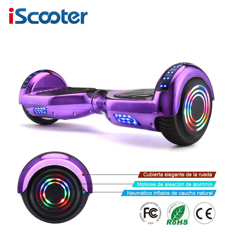IScooter Hoverboards Self Balance Electric Scooter Skateboard Electric Hoverboard 6.5 Inch Two Wheels Hover Board