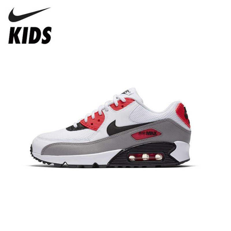 Новое поступление; оригинальные детские кроссовки для бега с воздушной подушкой; дышащие спортивные кроссовки для бега; Nike Air Max 90; #325213-132