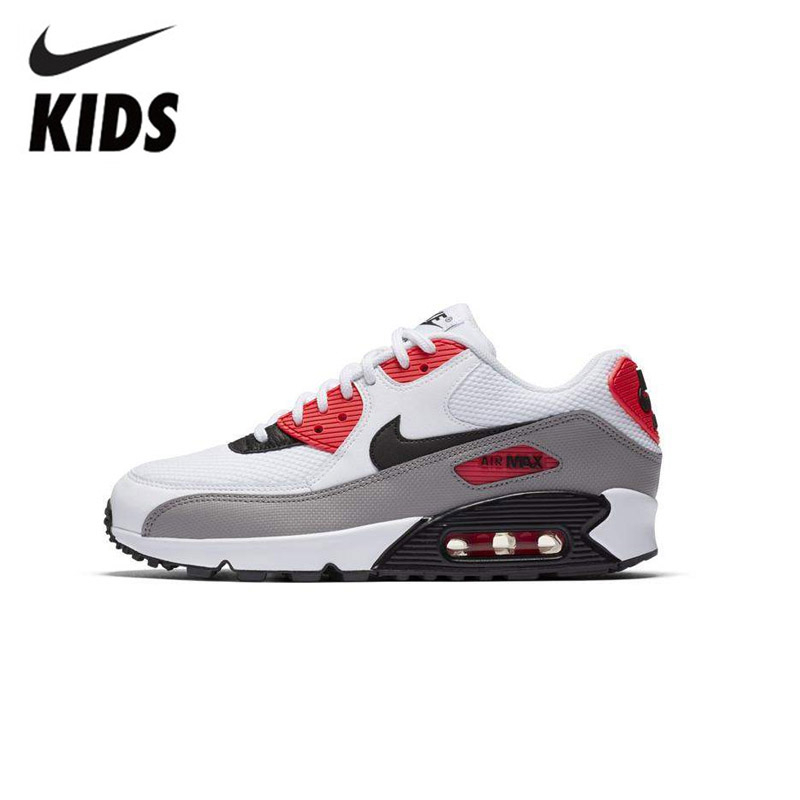 Nike Air Max 90 Original Kids Shoes New Arrival Air Cushion Children Running Shoes Breathable Sports Sneakers #325213 132