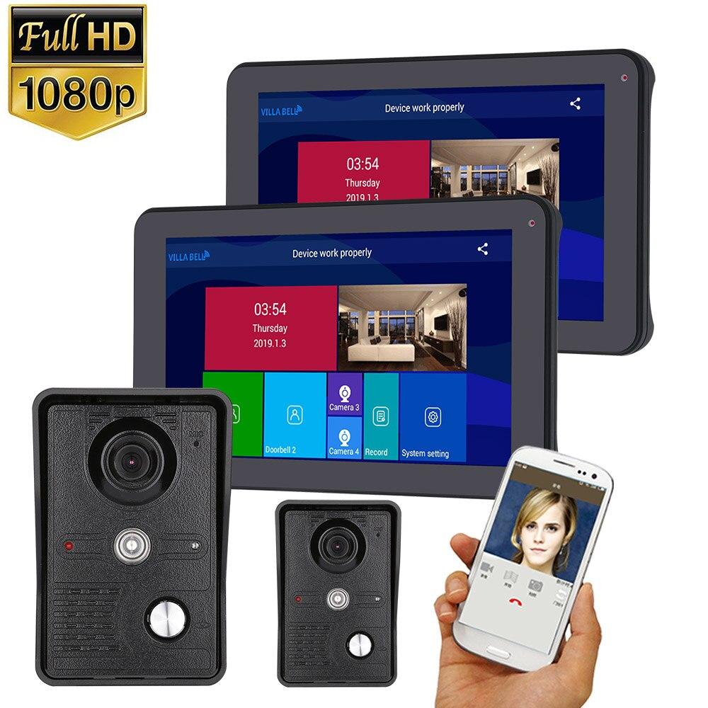 1080P 9 Inch Wireless/WIFI Smart IP Video Door Phone Doorbell Intercom System With Night Vision Camera