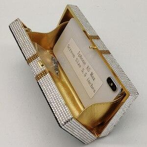 Image 5 - Boutique De FGG Hand Made STACK OF CASH Dollarเงินผู้หญิงกระเป๋าคลัทช์คริสตัลกระเป๋าค็อกเทลDinner Pursesและกระเป๋าถือ