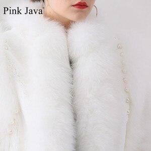 Image 5 - الوردي جافا QC19044 جديد وصول الساخن بيع النساء الشتاء الثعلب الحقيقي الفراء معطف ريكس الأرنب الفراء سترة النقي معطف أبيض الصينية نمط