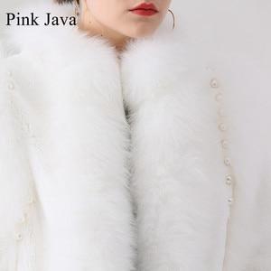 Image 5 - Różowy java QC19044 new arrival hot sprzedaż kobiety zima prawdziwe futro z lisa rex królik futro kurtka czysty biały płaszcz chiński styl