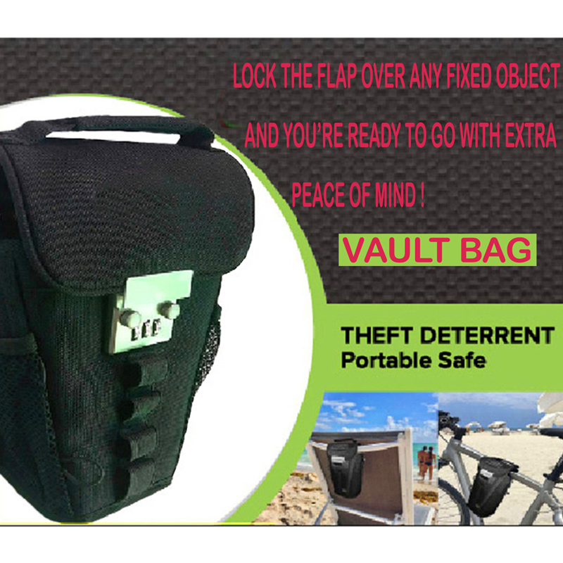 Key Bag With Password Lock Outdoor Beach Swim Wire Anti-Theft Safe Portable Package Chair Bicycle Sports Password Lock Bag