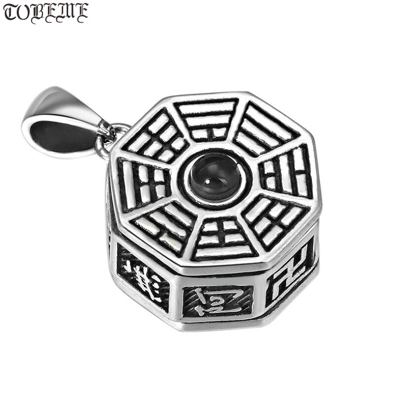 Véritable 925 argent tibétain Six mots pendentif 925 Sterling bonne chance pendentif bouddhiste E Mi Tuo Fo pendentif amulette