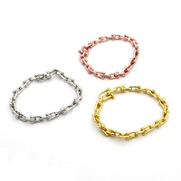 fashion designer stainless steel chain bracelet u shape rose gold silver gold famous brand jewelry for christmas gift