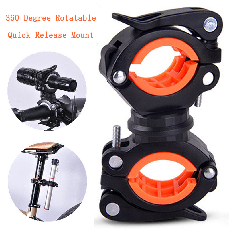 Bike Mount Bicycle Bracket Flashlight Torch Lamp Cycling Quick Release Headlight