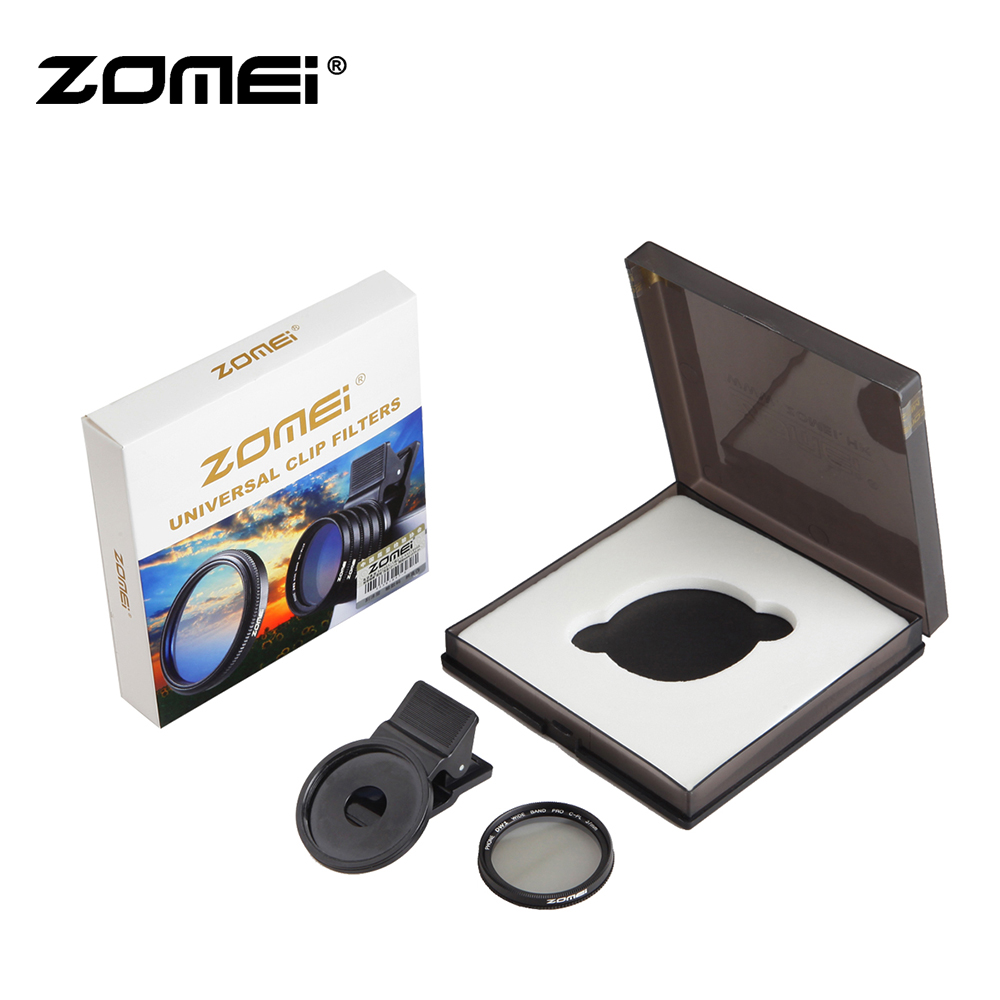Zomei 37MM Professional <font><b>Phone</b></font> <font><b>Camera</b></font> Circular Polarizer CPL Lens for iPhone 8 7 6S Plus Samsung Galaxy Huawei for Xiaomi HTC image
