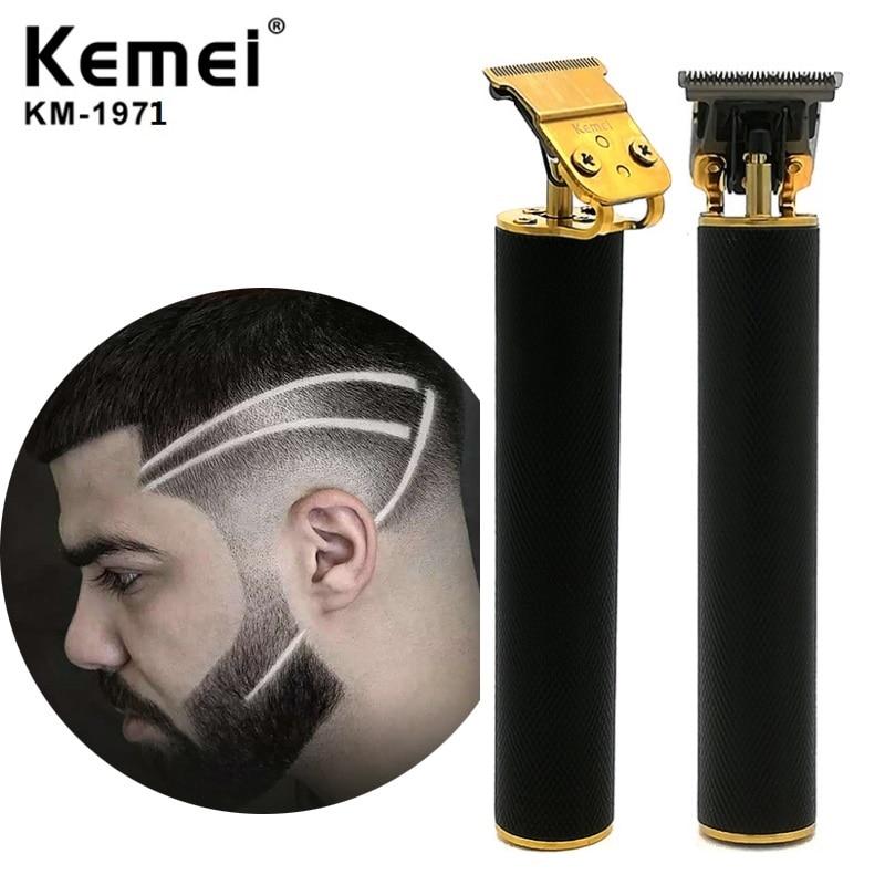 Kemei KM 1971 Pro Li T Outliner Skeleton Heavy Hitter Cordless Trimmer Men 0mm Baldheaded Hair Clipper Hair Cutting Machine Hair Trimmers    - AliExpress