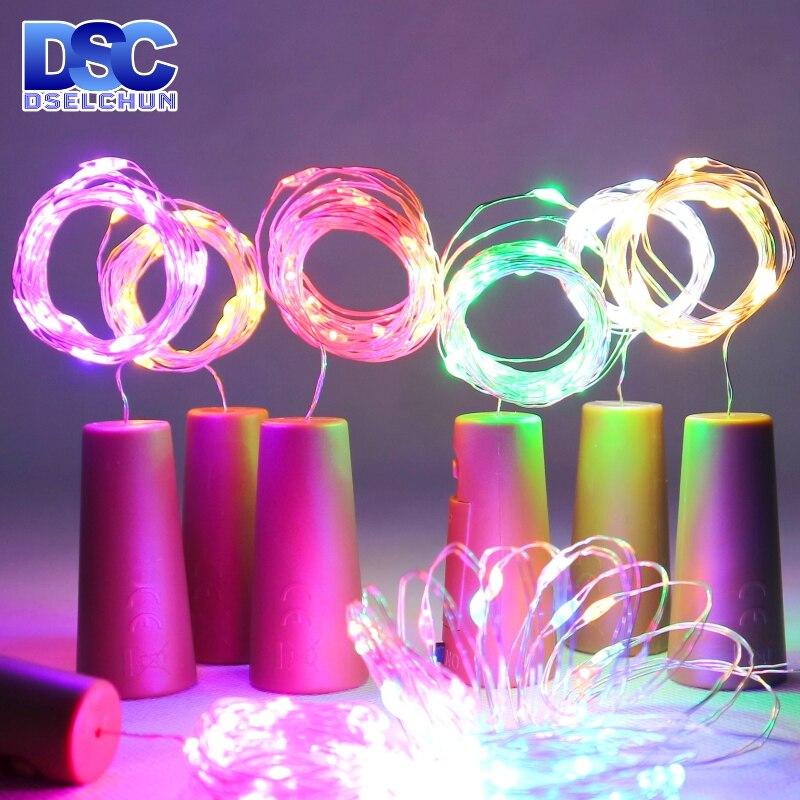 Светодиодный светильники в форме винных бутылок 2 м 20 светодиодный s в форме пробки медный провод красочные мини-гирлянды для внутреннего и ...