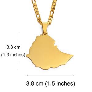 Anniyo 3.8cm Ethiopia Map Pend