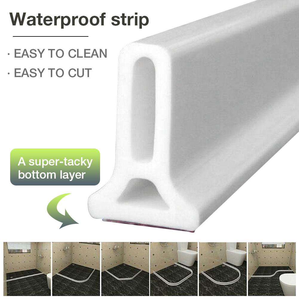 Rubber Silicone Shower Barrier Water Stopper Bathroom Waterproof Strip uk