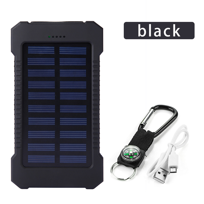 <font><b>30000mAh</b></font> <font><b>Solar</b></font> <font><b>Power</b></font> <font><b>Bank</b></font> <font><b>Solar</b></font> Panel Powerbank <font><b>Waterproof</b></font> USB Battery Charging LED External Charger For iPhone Samsung phone image