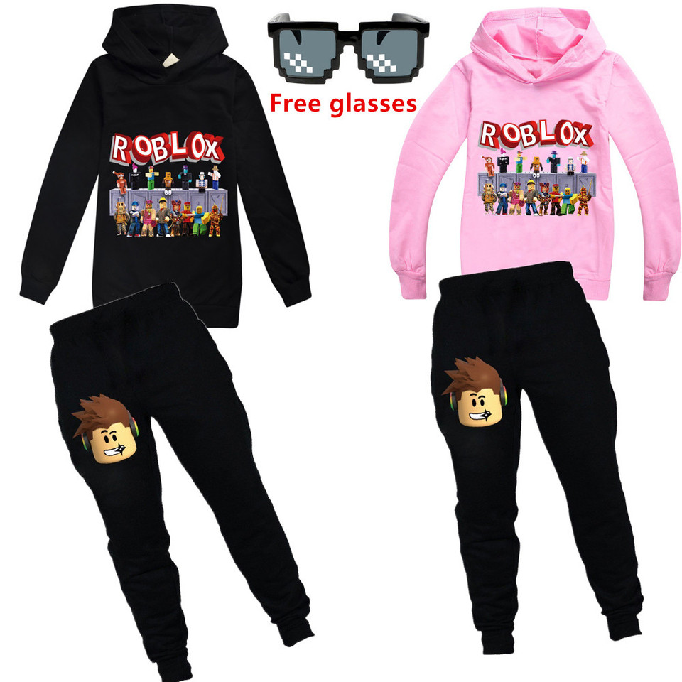 2020 The New Roblox Kids Tracksuit Boys Clothes Set Hoodies And