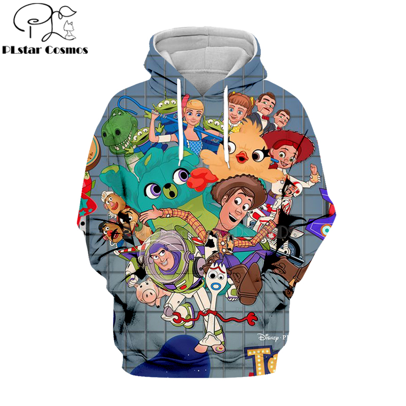 Anime Toy Story 4 Forky 3D Print Hoodies Men Casual Pullover Sweatshirts Tops