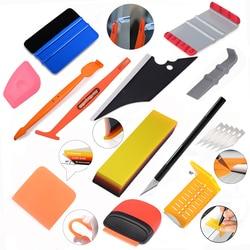FOSHIO Auto Car Accessories Vinyl Wrapping Tools Set Magnet Squeegee Soft PPF Scraper Window Tint Carbon Fiber Sticker Cutter