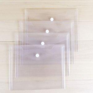 5 шт. прозрачный А5 Папка Файл BagPlastic документ кнопка оснастки мешок бумага для хранения офисные школьные принадлежности
