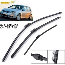 Front and Rear Windshield Wiper Blades For VW Golf 5 Windscreen Wipers Car Accessories 2005 2006 2007 2008 2009 24 #8243 19 #8243 13 #8243 cheap MISIMa CN(Origin) High Grade Natural Rubber insures maximum performance 0 1kg cleaning 1inch ISO9001 none