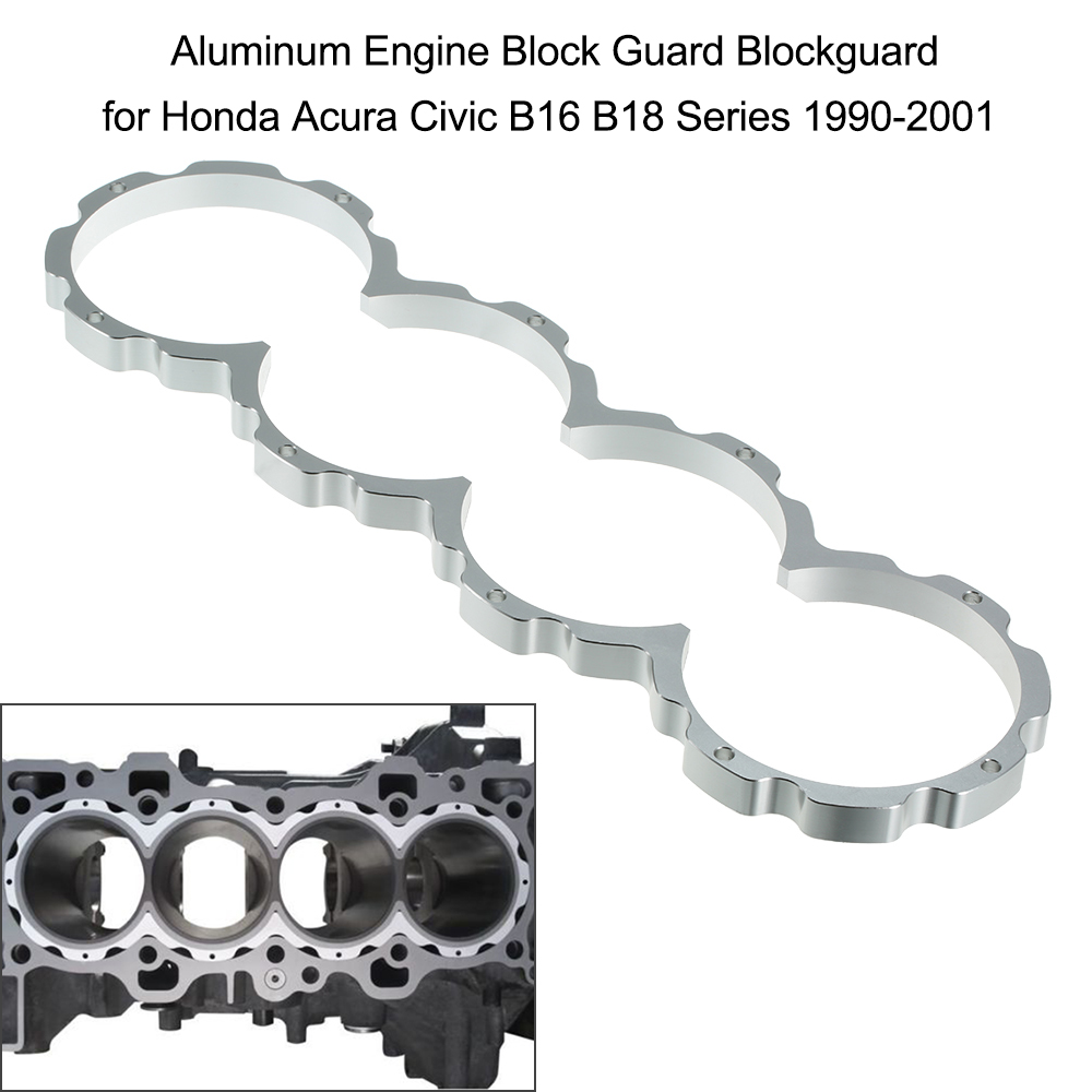 Aluminum Engine Block Guard Blockguard for Honda Acura Civic B16 B18 Series 1990-2001