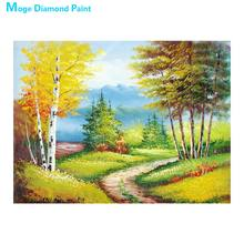 Country trail scenery Diamond Painting Round Full Drill Scenic Nouveaute DIY Mosaic Embroidery 5D Cross Stitch home decor gifts(China)