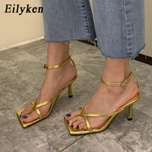 Eilyken 2020 Ankle Strap Women Sandals Fashion Brand Thin High Heel Gla