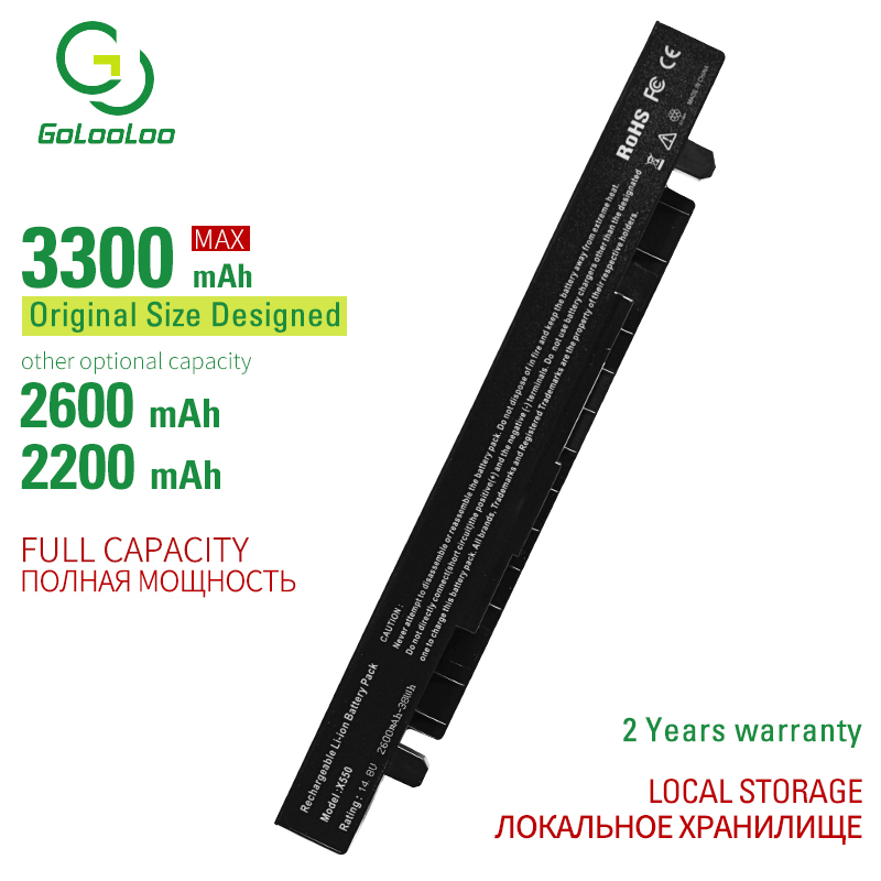 GOLO 4CELL Laptop Battery For ASUS P450 A32-X550 X450LA X452 X550A A450LA P450LC R510EA P450CA F550VC F552C A450V P450LB X552C