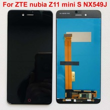 High Quality Black/White For ZTE nubia Z11 mini S NX549J LCD Display +Touch Screen Digitizer Assembly Replacement