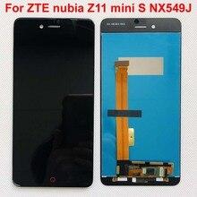 Высококачественный черный/белый для ZTE nubia Z11 mini S NX549J ЖК дисплей + кодирующий преобразователь сенсорного экрана в сборе, замена