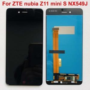 Image 1 - Высококачественный черный/белый для ZTE nubia Z11 mini S NX549J ЖК дисплей + кодирующий преобразователь сенсорного экрана в сборе, замена