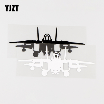 YJZT 15.9X6.2CM Navy Aircraft Personality Car Sticker Creative Vinyl Decals Black / Silver 10A-0029 image