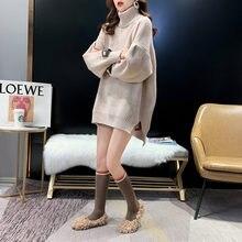 Женский свитер с высоким воротом Свободный пуловер в Корейском