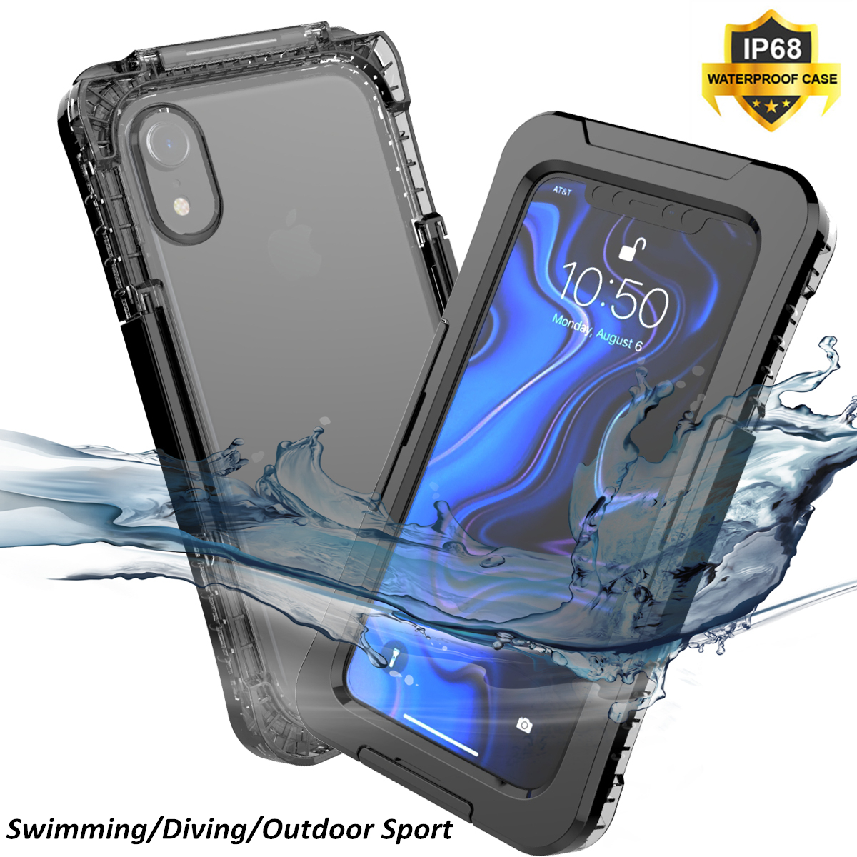 IP68 Coque For iPhone X XS Max XS Waterproof Case Shockproof Anti fall Dust proof Swimming
