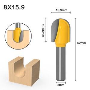 Image 4 - 1PC8mm Shank CNC frez węglikowy narzędzie długi grot okrągły nos Bit Core Box frez długi zasięg