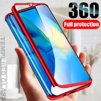 Защитный чехол на весь корпус для Samsung Galaxy S21 Ultra S20 FE S10 PIus A02S A51 A71 A12 A42 Note 20 10 Pro, чехол со стеклом, 360