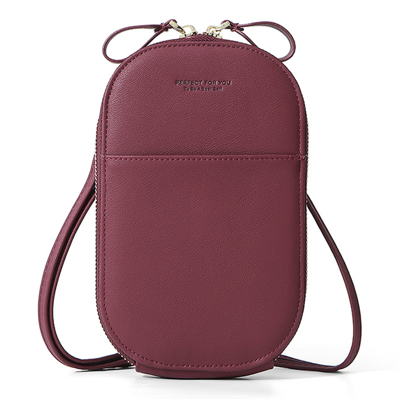 Luxury Women Phone Messenger Bag PU Leather Mini Cute Shoulder Hand Bags Ladies Coin Purses Crossbody Bag Fashion Female Wallet