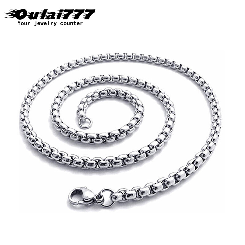 2019 stainless steel hip hop chain men's necklace jewelry gifts for men male women gold accessories neckless jewellery chains(China)
