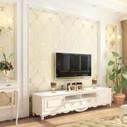 Европейский Стиль ТВ фон обои из нетканого полотна минималистическая Современная Гостиная Спальня обои с рисунком ромба; замша
