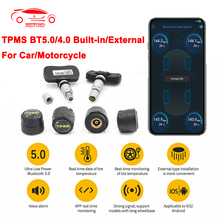 TPMS Tire Pressure Alarm system Sensor For Motorcycle/Car tpms Bluetooth 5.0 TMPS Android/IOS Tyre Pressure Monitoring System
