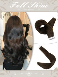 Human-Hair-Extensions Hair-Machine Skin-Weft-Glue Adhesive Tape-In Colorful Remy Pure-Blonde