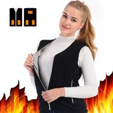 Зимний женский теплый жилет 2020 мужская куртка с подогревом