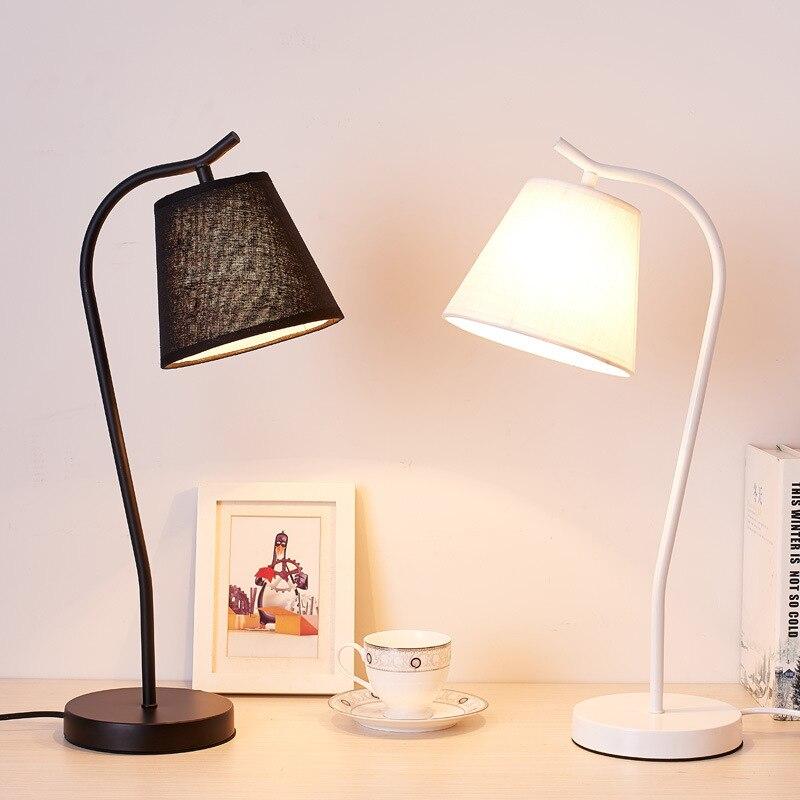 Modern Simple Table Lamps Standing Desk Light Living Room Bedroom Bed Lamp LED Light Luminaire Nordic Loft Industrial Home Decor