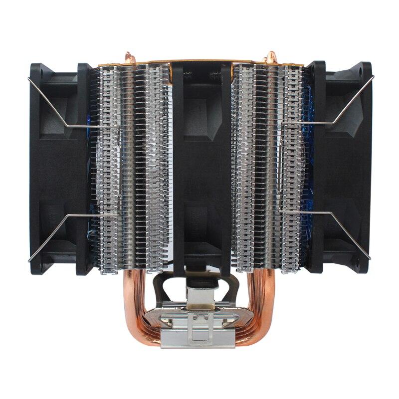 coolangel 6 Heat Pipes CPU Cooler 4 Pin PWM RGB PC quiet Intel LGA 2011 775 1200 1150 1151 1155 AMD AM3 AM4 90mm CPU Cooling Fan 4