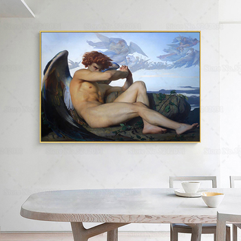 Fallen Angel by Alexandre Cabanel Printed on Canvas 2